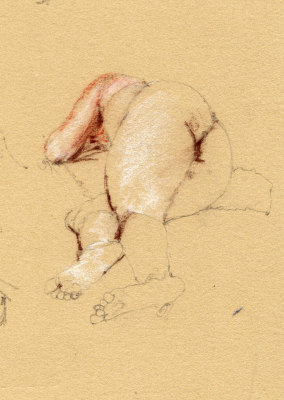 Reclining Nude Pencil and Conte 1983