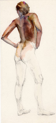 Watercolor Figure study 1986